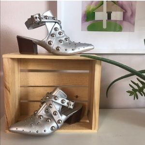 nasty gal silver booties